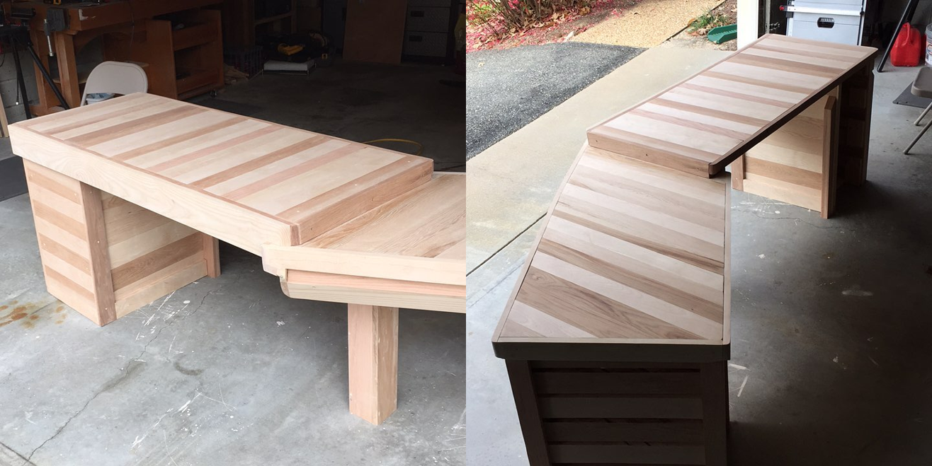 Desk under construction