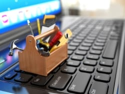tools on keyboard