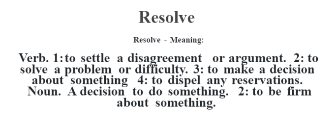definition of resolve